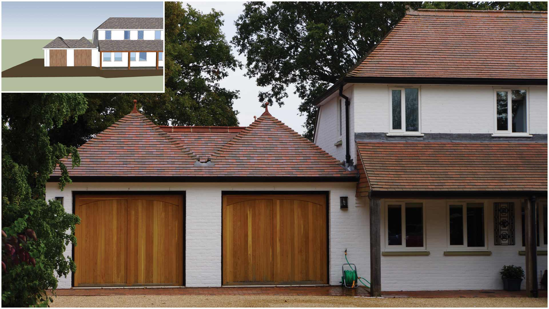 Secret valley double hipped roof extension design by pb properties