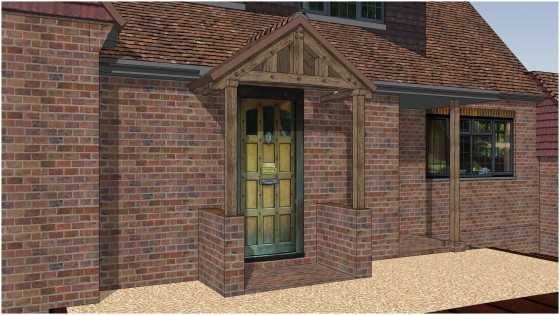 Oak Porch Design By PB Properties