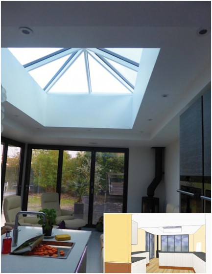 Roof Lantern Internal View By PB Properties